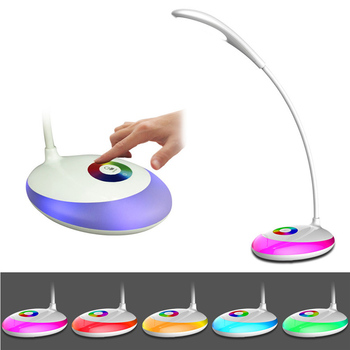 JIAWEN Unlimited Dimming Desk Lamp Multi-color Night Light for Kids Bedroom Gadgets Eye Protection Touch Reading Light