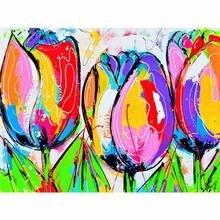 Алмазная 5d картина yikee k367 «сделай сам» с цветами полная