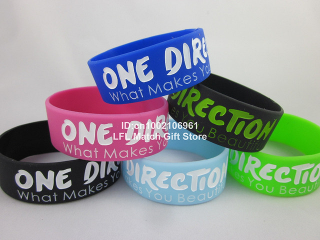 ONE DIRECTION wristband, what makes you beautiful bracelet, silicon wristband, promotion gift, 6colors, 50pcs/lot, free shipping
