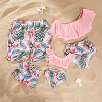 2019 Family Matching Clothes Ruffle Mom Daughter Swimwear mother and daughter clothes Bikini Swimsuit Family Look