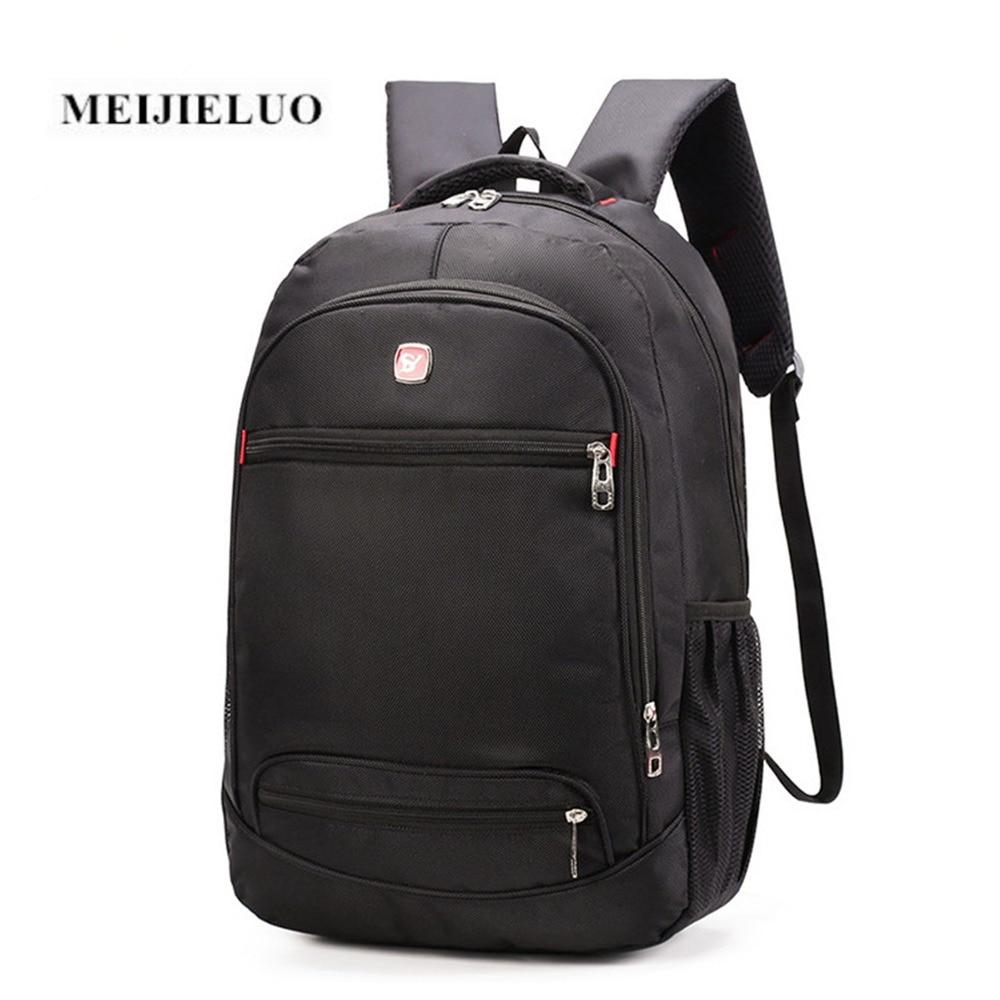 MEIJIELUO Fashion Backpack Black Laptop Multifunction Rucksack Backpack 15 6 inch Computer Bag Oxford Waterproof Backpacks