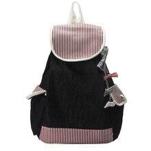 Мода 2017 г. Для женщин рюкзак школьный рюкзак холст путешествия Сумка Наплечная Сумка Bookbags сумка Дизайн Высокое качество #7543003