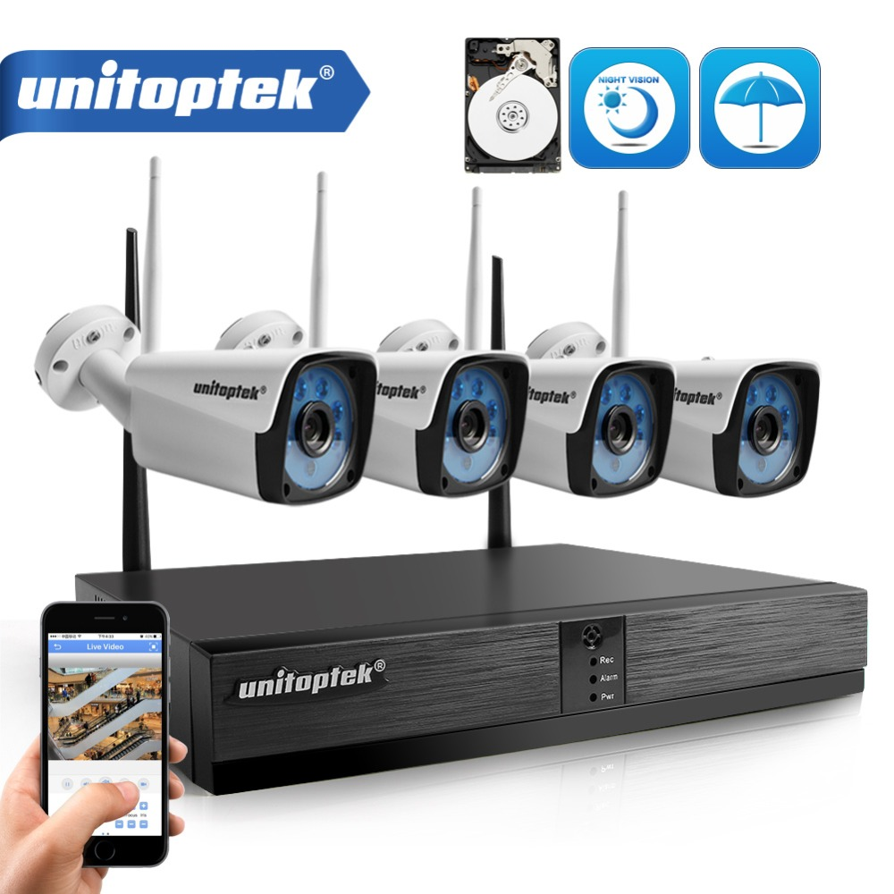 4CH 720P HD Wireless NVR Kit P2P 720P 1.0MP Indoor Outdoor IR Night Vision Plug and Play Security Camera WIFI CCTV System XMEye new digital video recorder plug and play dvr kit p2p 720p hd1mp outdoor ir night vision 8ch security camera cctv system 1tb hdd