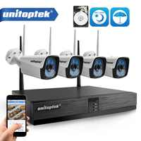 4CH 720P HD Wireless NVR Kit P2P 720P 1.0MP Indoor Outdoor IR Night Vision Plug and Play Security Camera WIFI CCTV System XMEye