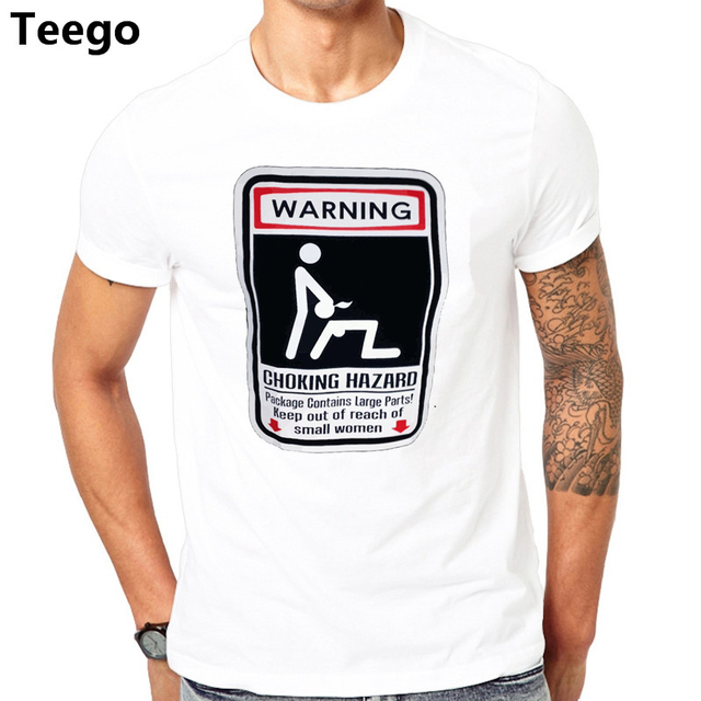 Aliexpress.com : Buy Funny Warning Choking Hazard Mens T Shirt Sexual Humor  T Shirts euro sizeS XXXL from Reliable T-Shirts suppliers on Shop4405078 ...