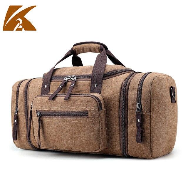 Kvky 2018 New Men S Handbag Casual Canvas Shoulder Bag Large Capacity Travel Bags Portable
