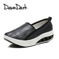 Walking Shoes For Women Black White Women S Sports Platform Shoes Height Increasing Slip On Women