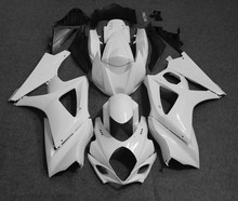 ZXMT Unpainted White Fairing Kit Fit For Suzuki GSXR1000 2007 2008 K7 ABS Injection Bodywork Set injection mold fairing kit for suzuki gsxr1000 09 10 gsx r gsxr 1000 k9 2009 2010 hot red white abs fairings set 7gifts sz16