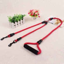 High Quality 145CM Nylon Dual Dogs Leash No-Tangle Double Dog Leashes Couple For Training Two Small Medium Large