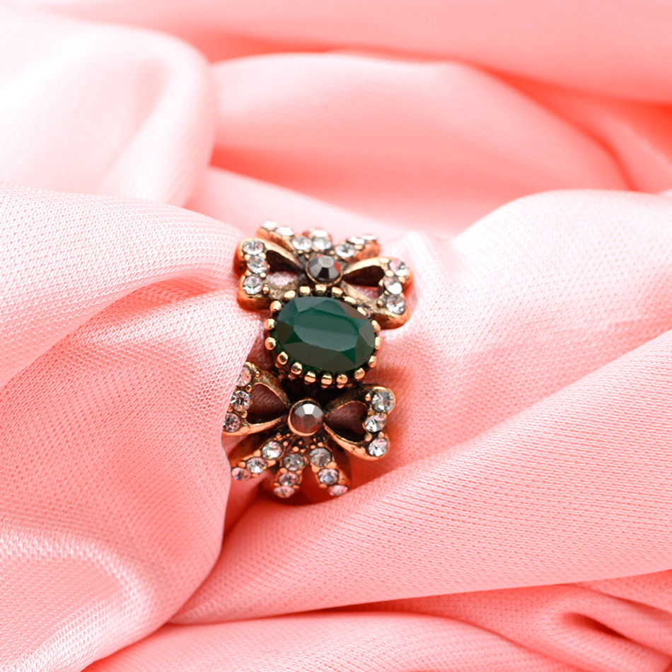 SUNSPICE MS. Vintage Rings Turkish Women Antique Gold Color Resin ...