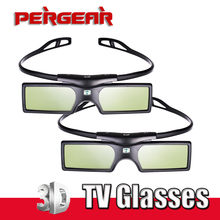 Gafas de TV con obturador 3D para Samsung, Panasonic, Sony, TV 3D, Universal, 3D, P0016935, 2 unids/lote