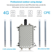 Chipset QCA9531 4G SIM Card Portable Wireless Router High Speed Outdoor POE LTE AP Wifi FRP antenna 8dbi