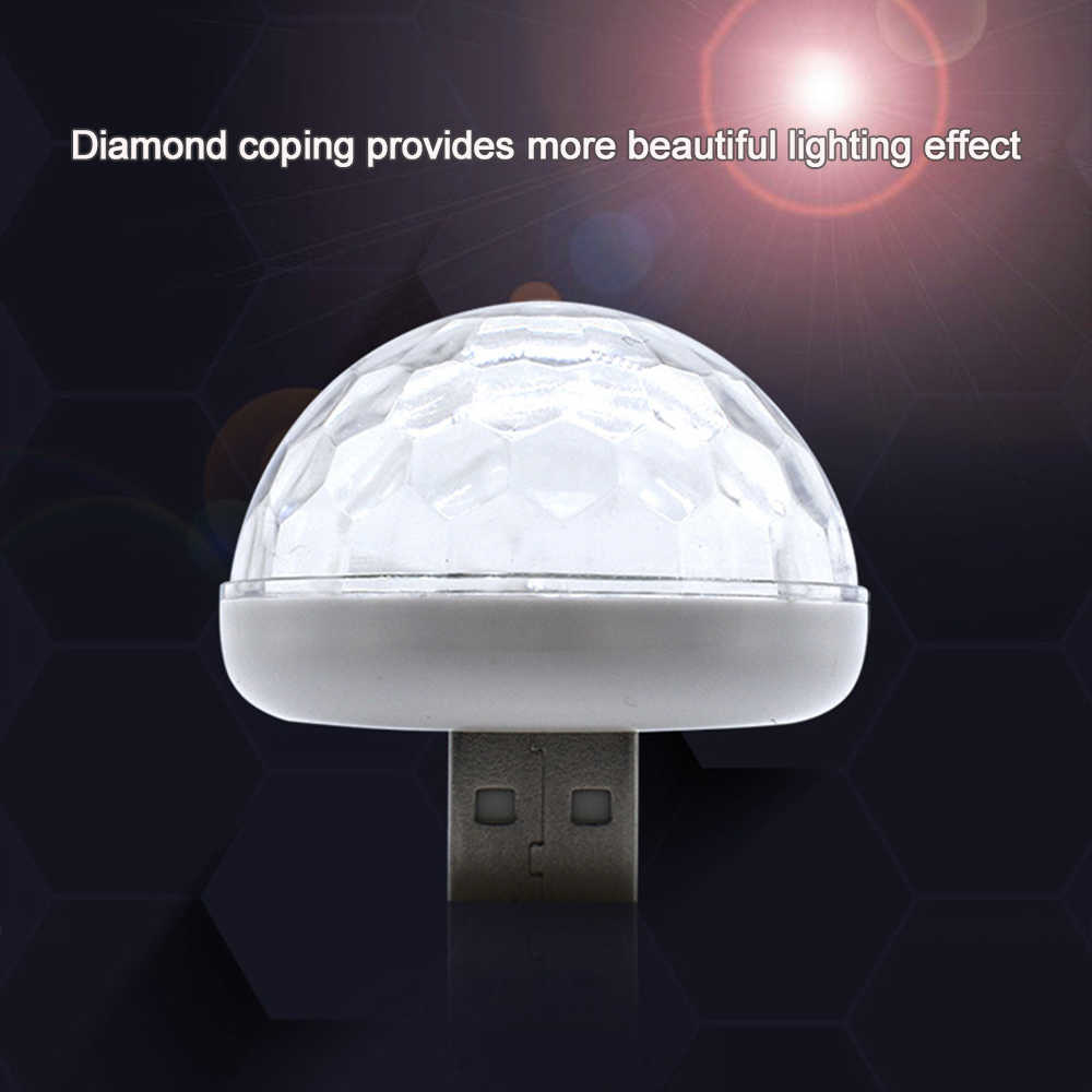 Auto Interieur Sfeer Neon Light Kleurrijke LED USB RGB Decoratie Muziek Lamp Auto Styling