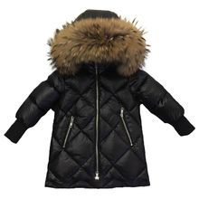 Children Outerwear Winter Jackets Coats Girls Warm Thick Down Jacket Kids Hoodie Big Fur Clothes Russia Snow Wear Parka