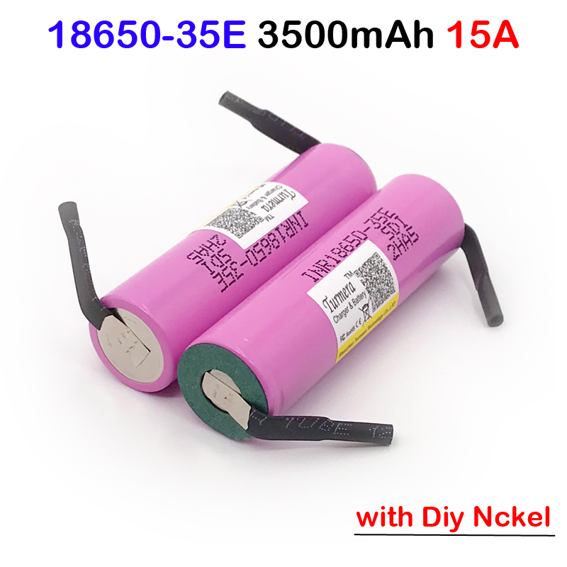 100% original 35E power <font><b>18650</b></font> lithium battery 3500mAh 3.7v 25A high power INR1865035E + nickel <font><b>18650</b></font> 3500mAh 13A discharge MAY19 image