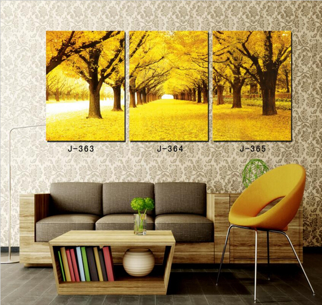 Decorative Tree Picture Oil Painting On Canvas Decor Landscape Wall ...