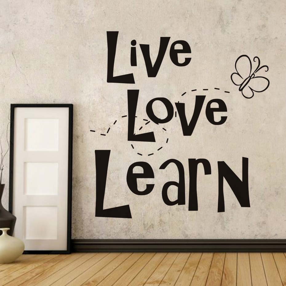 compare prices on learning quotes online shopping buy low price live love learn life quotes wall stickers family love art vinilos adesivos de parede for kids