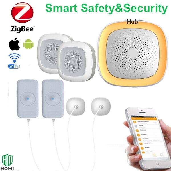 Wireless Wifi Zigbee Home Bath Room Leakage Temperature Humidity Sensor Water Flooding Alarm Detector