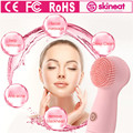 SKINEAT 2017 Woman Silicone Electric Face Cleanser Vibrate Waterproof Cleansing Brush Facial Vibration Skin Care Spa  Massager