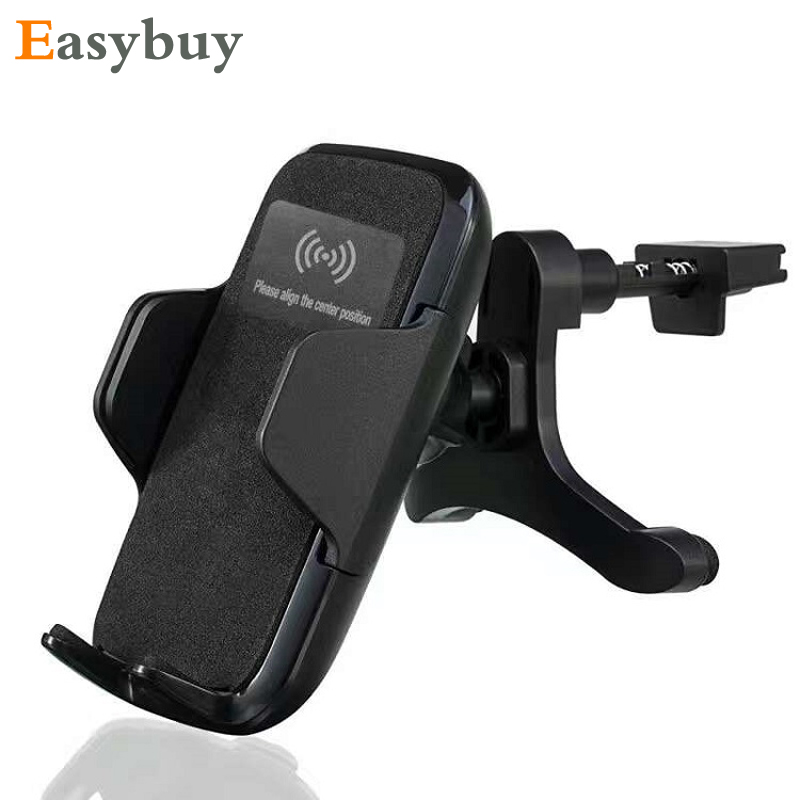 3 Coil Qi Car Wireless Charger Phone Holder Wireless Charging Pad for Samsung S6 S7 Edge