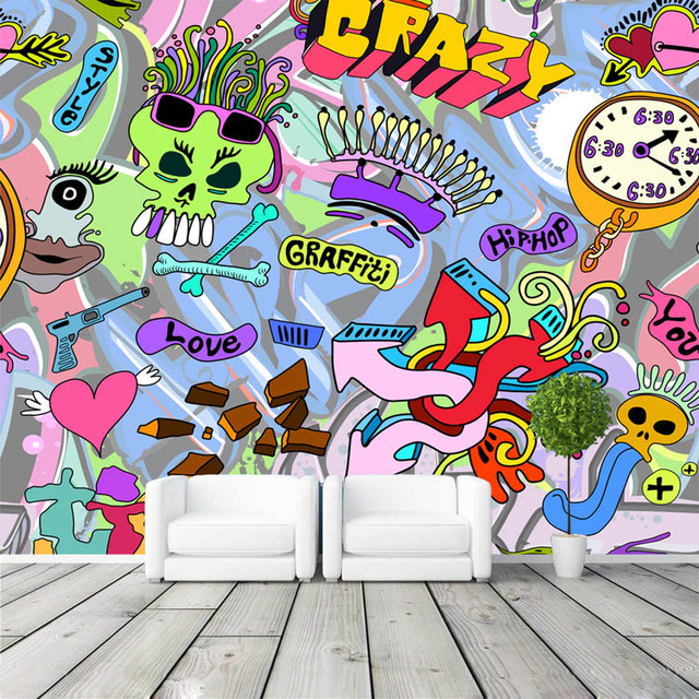 3d Wallpaper Anak Laki Laki Perkotaan Graffiti Art Foto Wallpaper