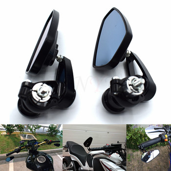 De la motocicleta espejo del manillar lado manija Bar termina espejo para YAMAHA R6 R1 MT 09 07 TMAX XMAX WR 125 de 250 KTM Duque 690, 125, 200, 390