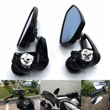 Espelho da motocicleta Espelho Lateral Guiador Handle Bar Termina PARA YAMAHA R6 R1 MT 09 07 TMAX XMAX WR 125 250 KTM DUKE 690 125 200 390