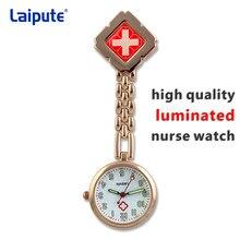 6db37c460da3 Enfermera Doctor reloj de bolsillo cuarzo Cruz Roja broche enfermeras Fob  colgante médico(China)