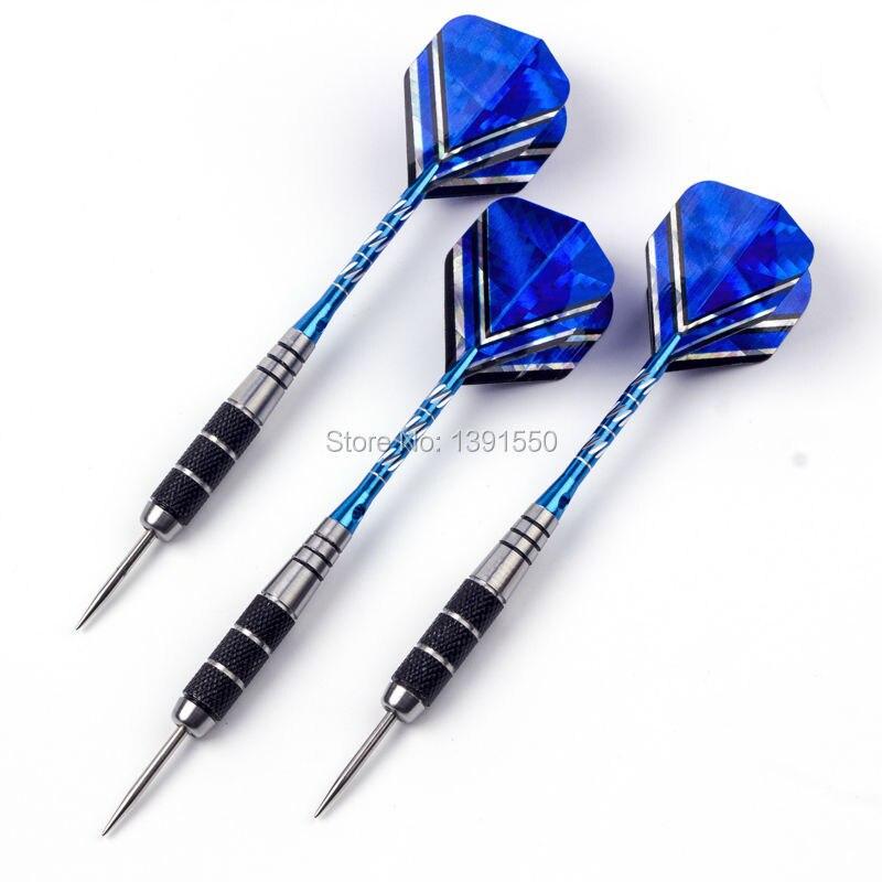 22 г синий нержавеющей стали иглы Дартс с Вырезка Алюминий вал иглы лазерной Дартс Перелёты D1/3 шт.