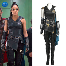 MANLUYUNXIAO Thor Ragnarok Cosplay Costume Valkyrie 3 Halloween Costumes For Women Custom Made Leather Suit