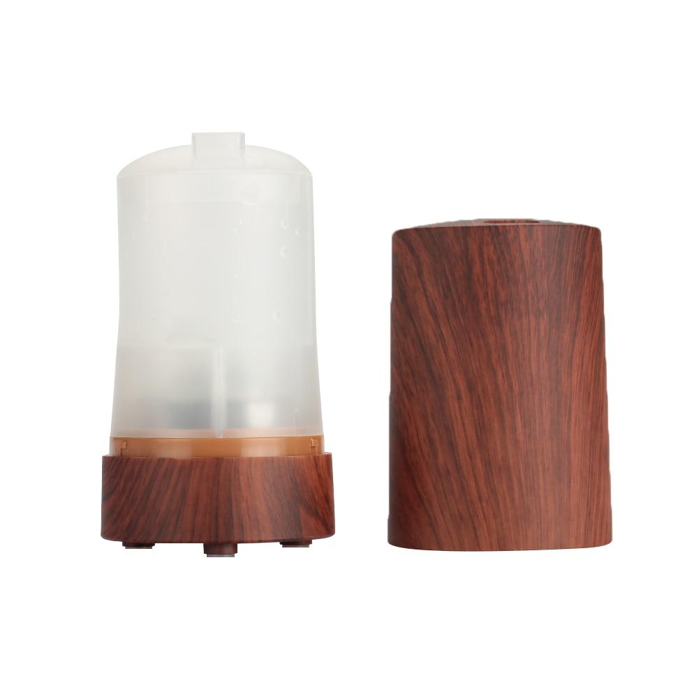 VEHEMO USB DC 5 В/1A очиститель воздуха увлажнитель воздуха освежитель воздуха автомобильный ароматерапия умный Ароматический диффузор светодиодный распылитель с подсветкой - Название цвета: wood color