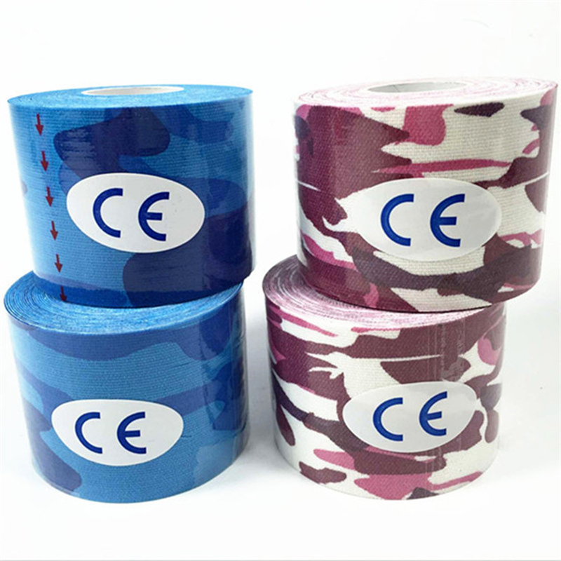 Image 2 - 2 Size 5M Length Elastic Sport Tape Kinesiology Tape Athletic Strapping Gym Tennis Fitness Running Knee Muscle Pain Care-in Elbow & Knee Pads from Sports & Entertainment