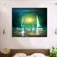 Modern abstract oil painting on canvas guaranteed wall art boat decorative wall pictures home decoration