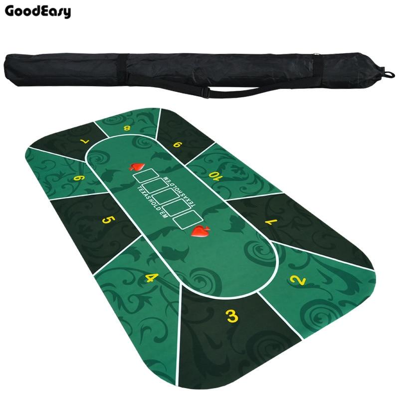 180x90 cm Deluxe Caoutchouc Texas Hold'em Poker Table tissu avec Fleur motif Conseil Jeu Tapis avec 10 sièges Casino Jeu Amusant Tapis ensemble