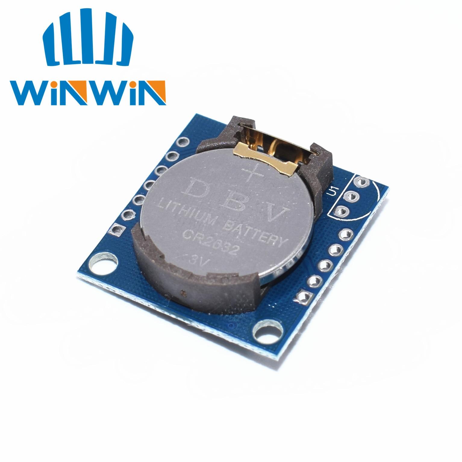 C53 1 шт. I2C RTC DS1307 AT24C32 часы реального времени модуль (с батареей) для AVR ARM PIC крошечный RTC I2C модулей памяти DS1307 часы