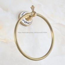 Античное Латунное настенное крепление кольцо для полотенец, держатель для полотенец, аксессуары для ванной комнаты для полотенец Nba775