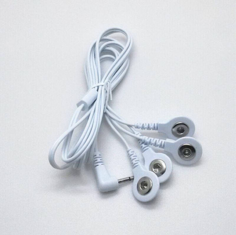 Най - високо качество 5pcs / lot 2.5MM 4 в 1 Глава електродни кабели Свързващи кабели за Цифров TENS Терапевтична машина Massager
