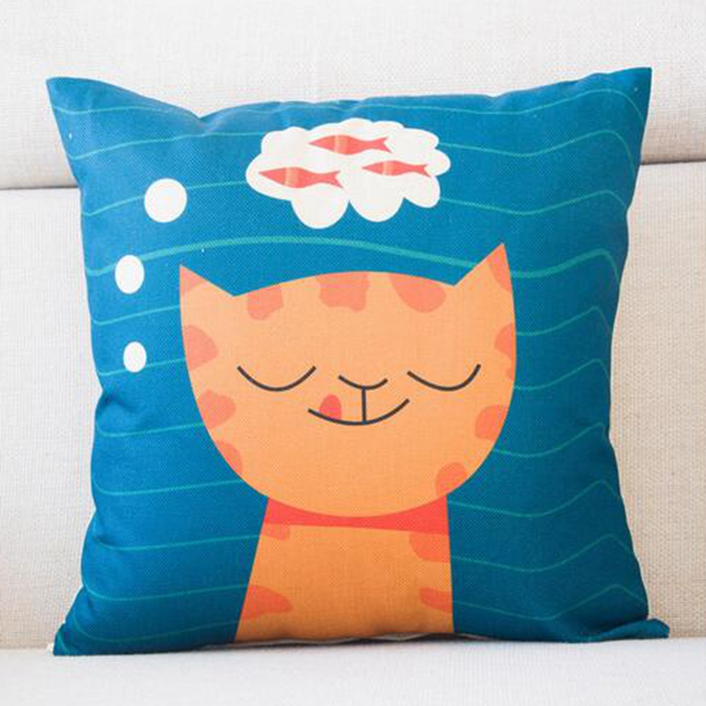 Kissen Bett Us 4 95 P Flame Katze Stil Mode Neue Kissen Katze Druck Kissen Bett Sofa Home Dekorative Kissen Fundas Para Almofadas Cojines In Cushion From Home