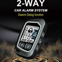 Two Way Remote Engine Start PKE Start Stop Car Alarm System Turbocharged Vehicle Protection Central Locking with Two LCD Remote