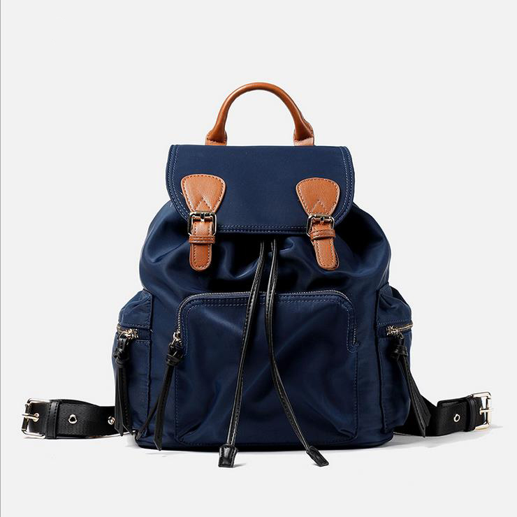 ФОТО Korean style Nylon water-proof oxford women backpack leisure fashion bag contracted joker large capacity backpack