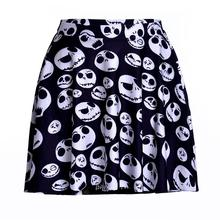 Black Skull Women Sexy Pleated Skirts Tennis Bowling Bust Shorts Skirts Plus Size Personality Female Fitness Apparel A Style