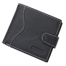 2019 100% Genuine Leather Men Wallet Card Holder Male Purse