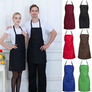 Babero ajustable delantal vestido hombres mujeres cocina restaurante Chef cocina clásica