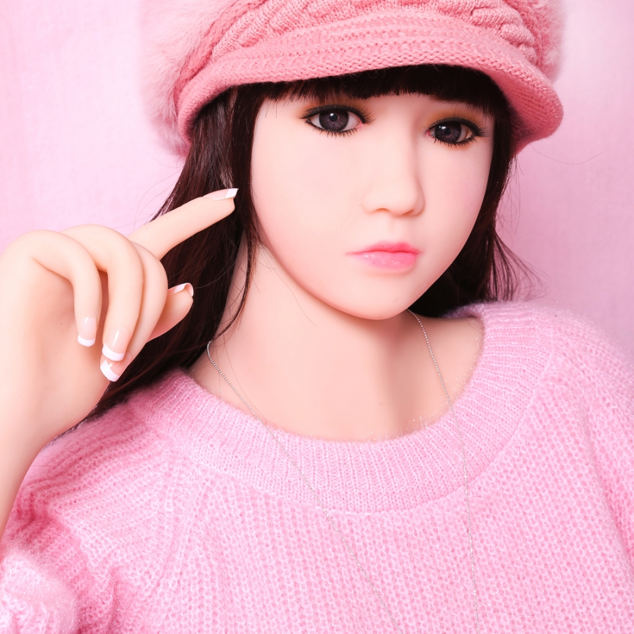 155cm small breast skin color Lifelike Real Asia Sex Doll Full Size Silicone with skeleton