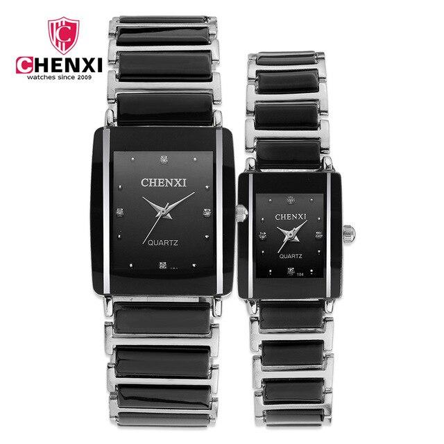 CHENXI Simulated Ceramics Quartz Women Watch Men Watches Luxury Famous Wrist Cou