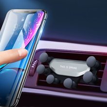 Universal Car Phone Holder For iPhone X XS Samsung Huawei Support auto grip Air Vent Mount Gravity Mobile