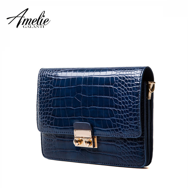 AMELIE GALANTI 2017 fashion women message bags stone pattern high quality PU small flap to keep with versatile elegant to carry