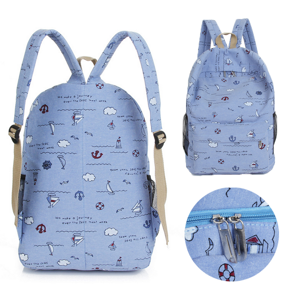 Cute Children's Bag Cartoon Print Girl Backpack Fashion New Portable Travel Shoulder Bag