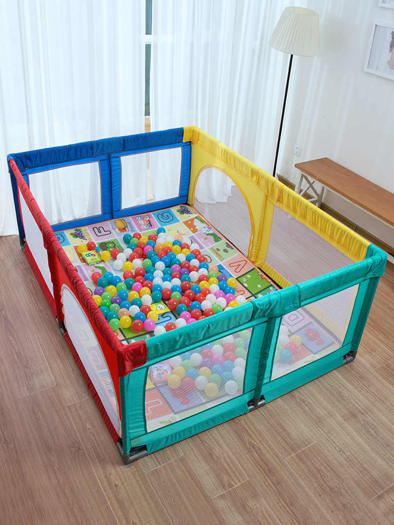 Baby Playpen How Free Shipping Foldable Baby Playpen Fence Steel Pipe Baby Play Fence Toddler Indoor Safety Play Pool Child Protection 5 Years