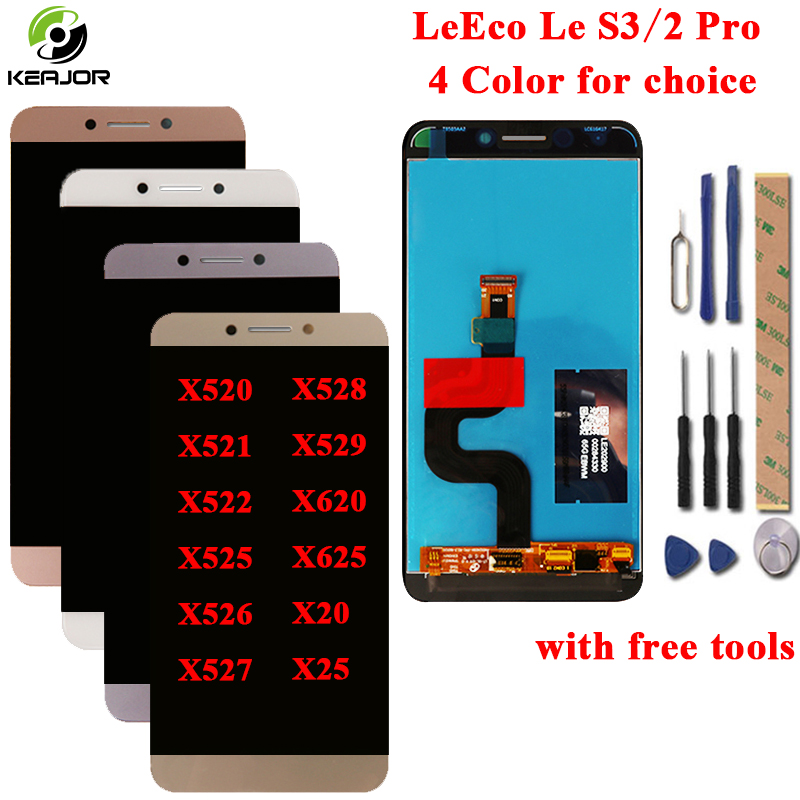 LeEco Le S3 X522 LCD Display + Touch Screen Für Leeco Le 2 Pro X620 X520 X521 X522 X525 X526 x527 X528 X529 X625 X20 X25